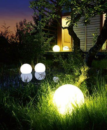Outdoor Led 16 Round Ball With Remote Control Cool Led Ball Lights Ball Lights Garden Lamps