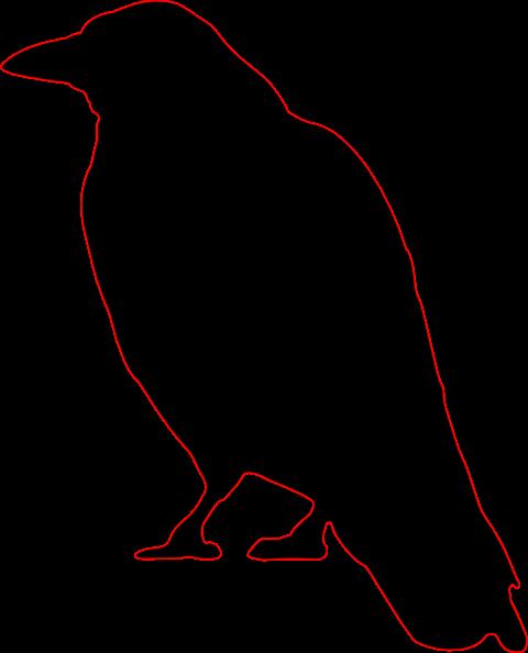 crow silhouette clip art at clker com vector clip art online rh pinterest com