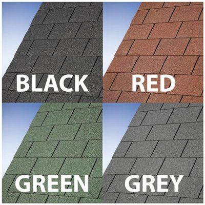 Billyoh Premium Felt Roofing Shingles Felt Tiles Pack Man Shed Garden Roofing Felt Felt Roof Tiles Roof Coating