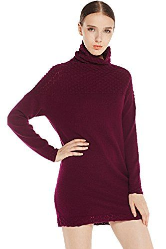 Miuk Women's Grey Purple Silm Turtle-neck Long Sleeve 100% Cashmere Pullover Sweater - http://www.cashmereknitwear.com/cashmere-sweaters/womens-sweaters/miuk-womens-grey-purple-silm-turtle-neck-long-sleeve-100-cashmere-pullover-sweater/ - Our Cashmere sweater is the perfect combination of luxury and versatility. Starting with the fleece – the world's finest from Inner Mongolia. It's tightly spun into a fine yarn and knitted by us –Professional Manufact