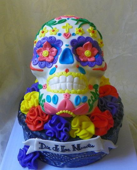 Dia De Los Muertos Wedding Theme Ideas: Dia De Los Muertos Cake