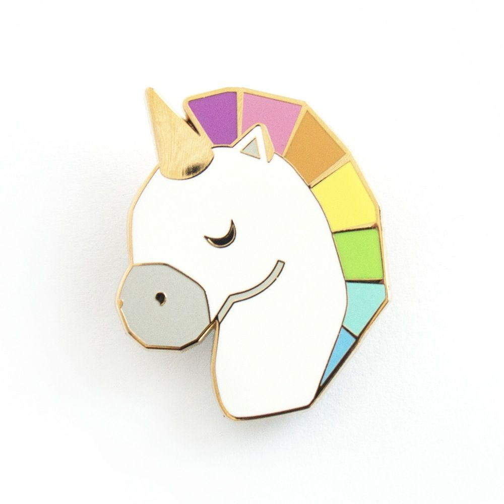 unicorn Enamel badge rainbow Unicorn Party Brooch.  uk seller Girl new