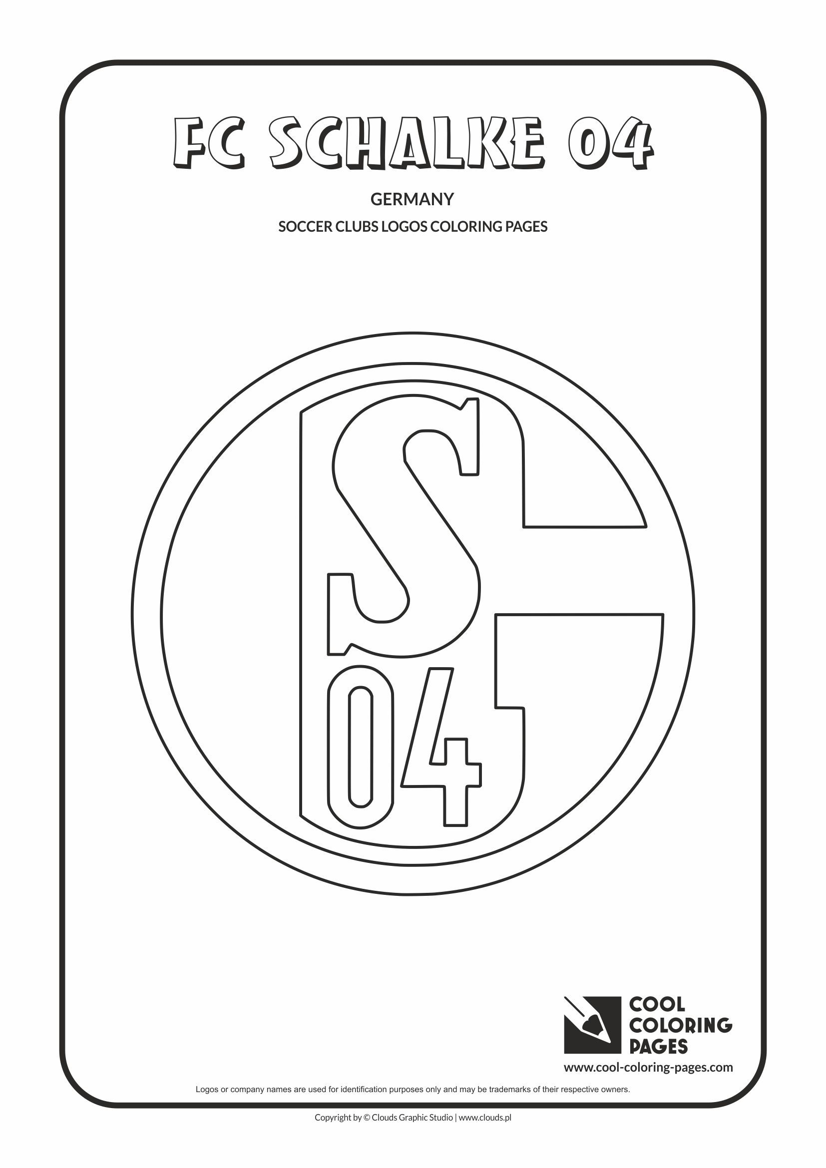 FC Schalke 04 logo coloring / Coloring page with FC Schalke 04