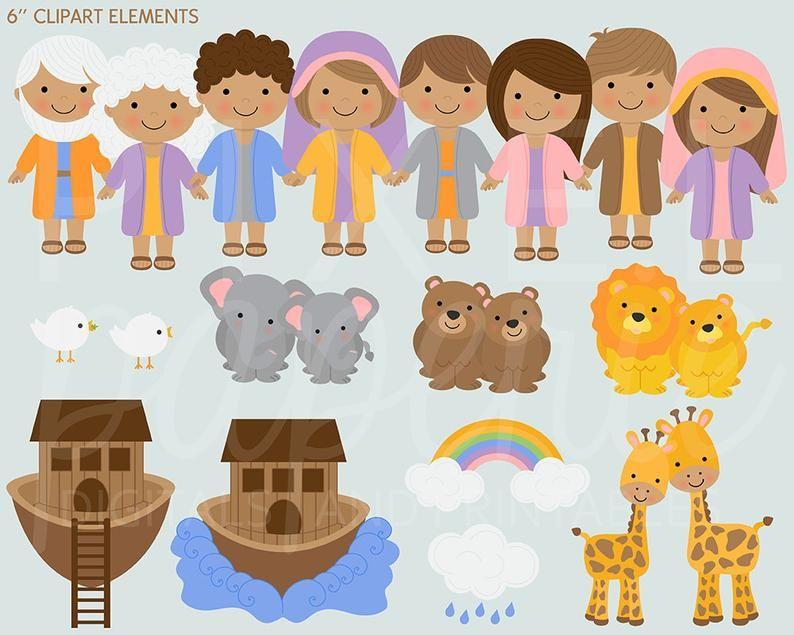 Noah Clipart - Cartoon Noah And Family , Free Transparent Clipart -  ClipartKey