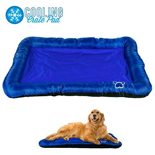 Pet Dog Self Cooling Crate Kennel Cage Cushion Pad Gel Bed Mat 42 X 28 Navy Blue Click Image To Review More Details Cat Bed Cat Bed Furniture Cat Behavior