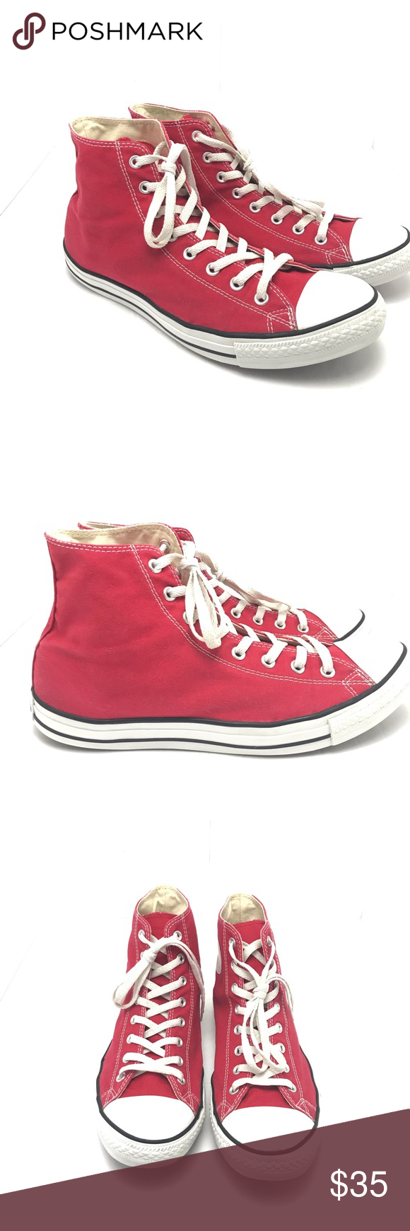 Red Chuck Taylor Converse high Tops