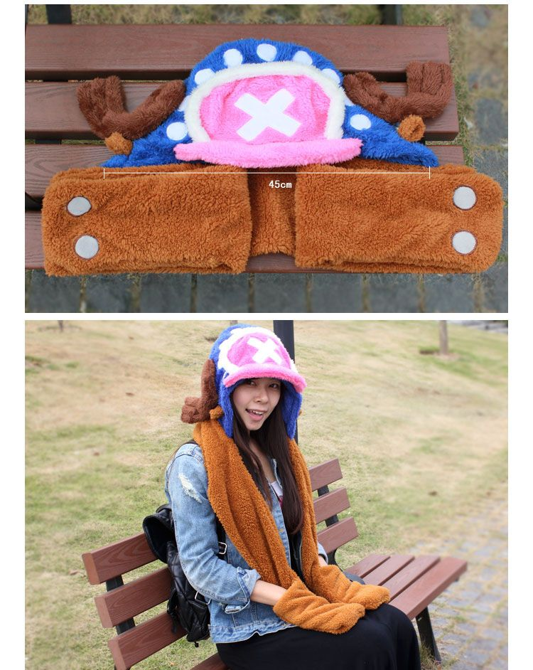 One Piece Hat Incidental Scarf and Gloves Function