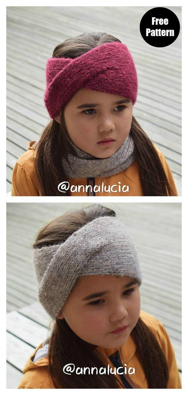 .Classic Twist Headband Free Knitting Pattern # ...