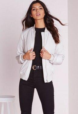Ladies White Bomber Jacket - JacketIn