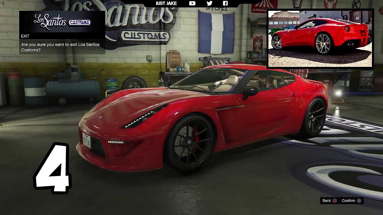 Gta 5 online top 10 best looking sports cars 2017 youtube