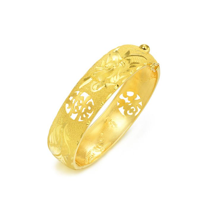 Traditional Chinese Wedding Gold Bangles by Chow Sang Sang