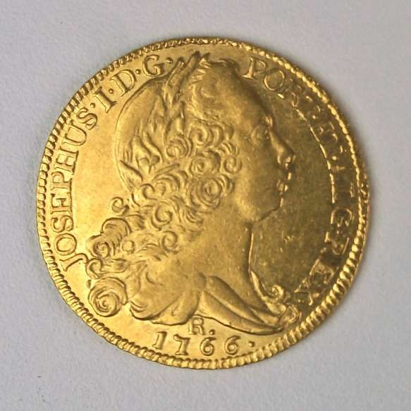 Moeda De Ouro Brasil 6 400 Reis 1766 Rio Quase Flor De Cunho