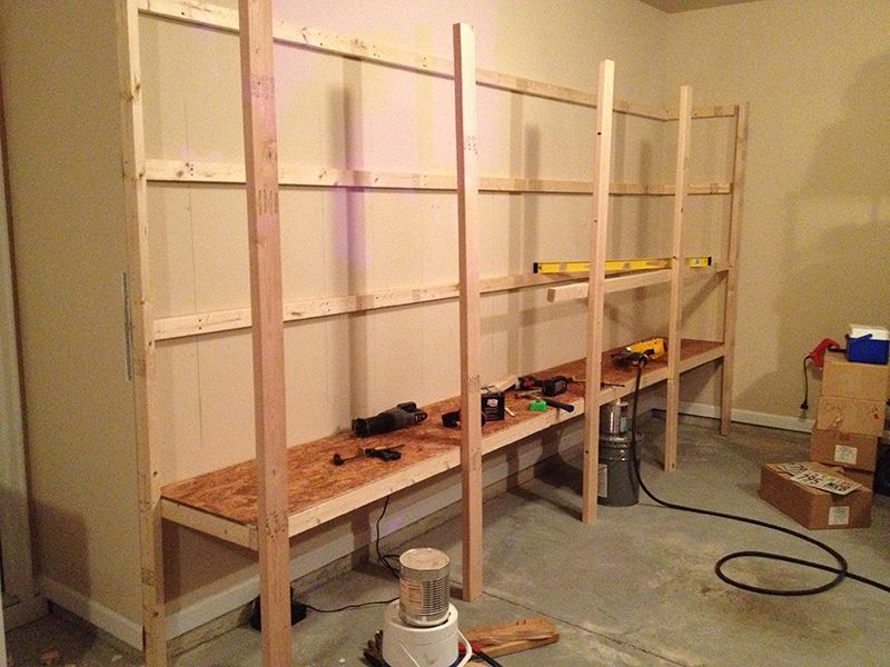 How To Build Sturdy Garage Shelves Home Improvement Stack Exchange Blog Garage Shelving Plans Shelves Shelving