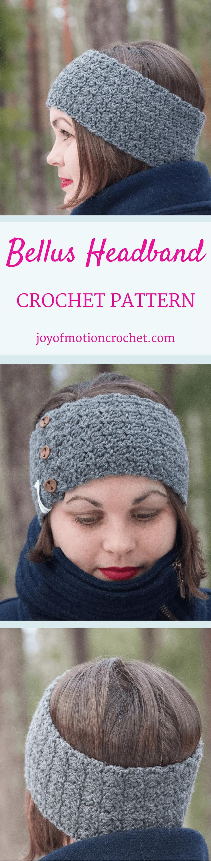 Bellus Headband Crochet Pattern | Headband crochet, Easy patterns ...