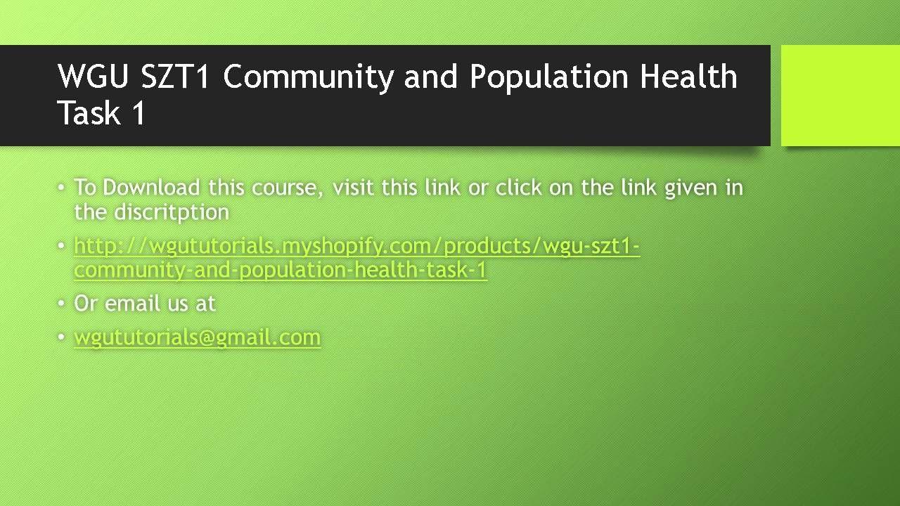 c304 task 3 community and population health