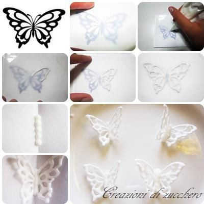 lace butterflies | Royal icing ideas | Pinterest | Royal icing ...