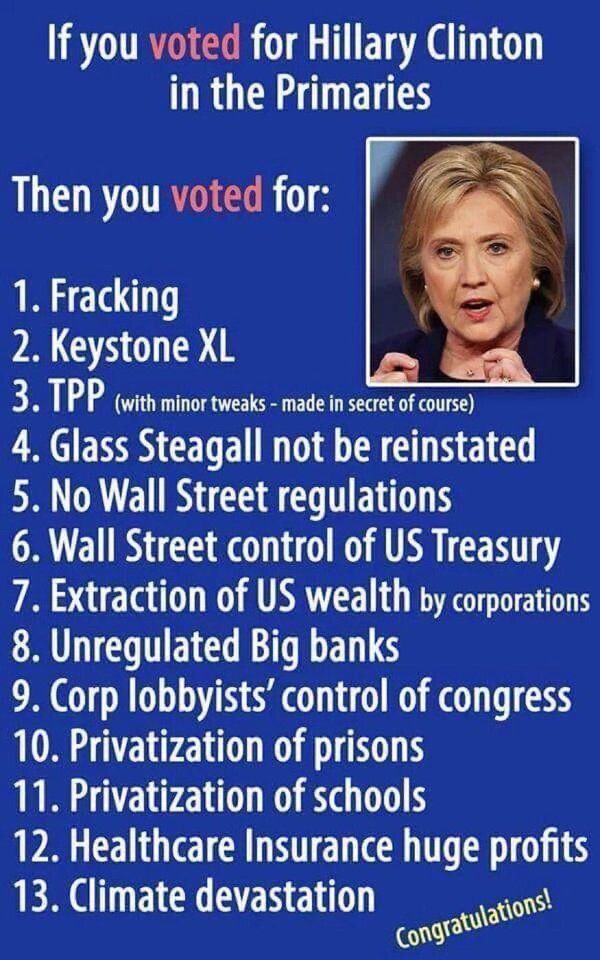 """Jeanette Verdista on Twitter: """"#Hillary2016's campaign is run by lobbyists for lobbyists and their corporate paymasters https://t.co/FKbYKOd80W"""""""