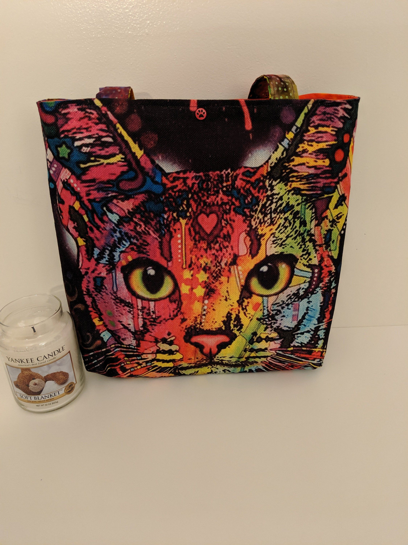 Bag Totecat Kittyanimal Tote Bag Travel Bagheavy Duty Etsy Bag Heavy Tote Bag Bags