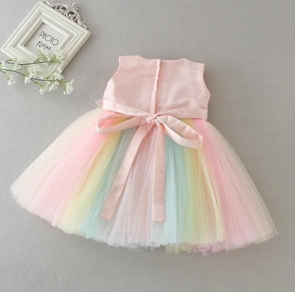 Rainbow Party Dress for Baby Girl ( 1-2 Years ) #babygirlpartydresses
