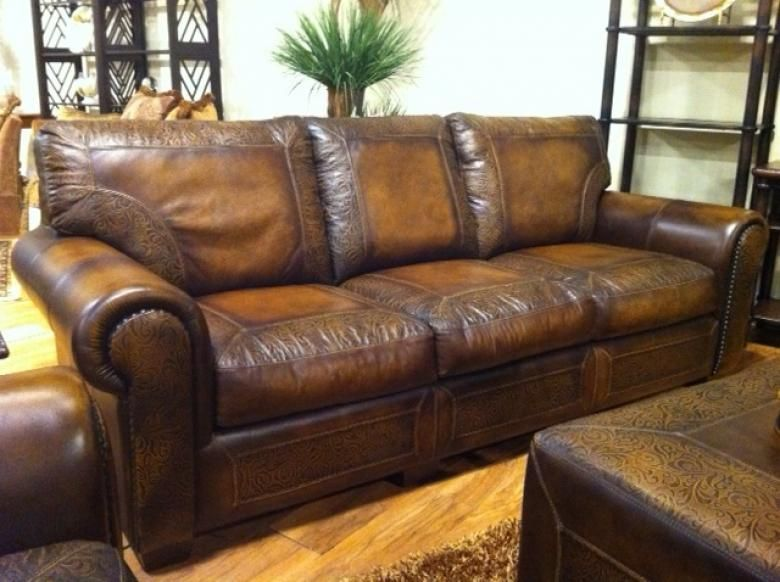 Kissel Leather Sofa Set. I love the worn leather look and I ...
