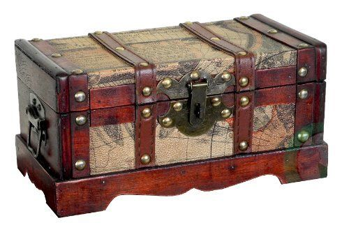 Old world map wooden small trunk by decorative gifts 2699 old old world map wooden small trunk by decorative gifts 2699 old fashioned hardware adds gumiabroncs Image collections