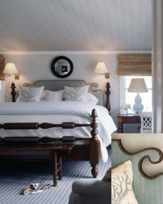 25 Stunning Transitional Bedroom Design Ideas: Note The Great Headboard Detail. Source