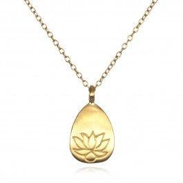 Simple gold lotus pendant necklace satya jewelry gold accents modern jewelry simple gold lotus pendant aloadofball Gallery