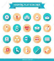 Hospital Flat Icon Set In 2020 Flat Icons Set Flat Icon Icon Set