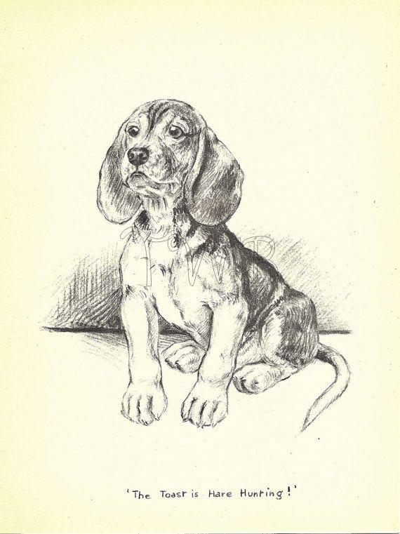 Dog Print Beagle Puppy Print Art Print Home Decor Paper
