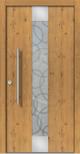holz haust r modern modell m123 z b holzart eiche astig mit edelstahl ber und unter dem glas. Black Bedroom Furniture Sets. Home Design Ideas