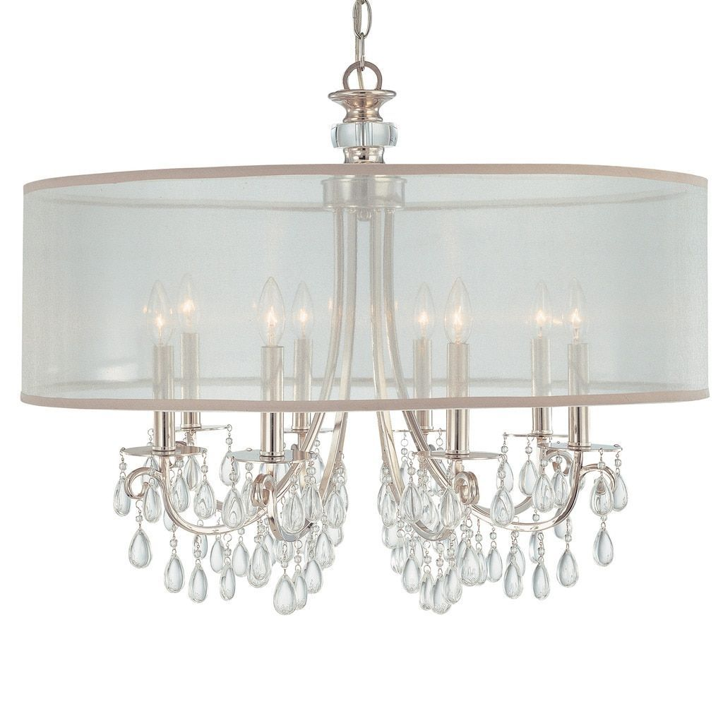 Crystorama hampton collection light polished chrome chandelier