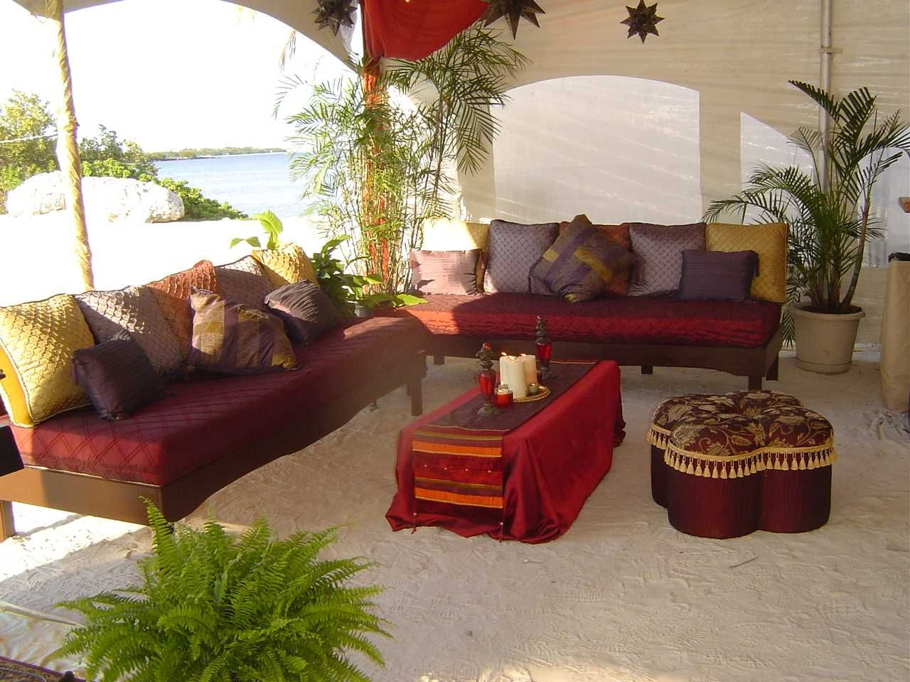Casablanca Theme Sitting Area Interior Design Party
