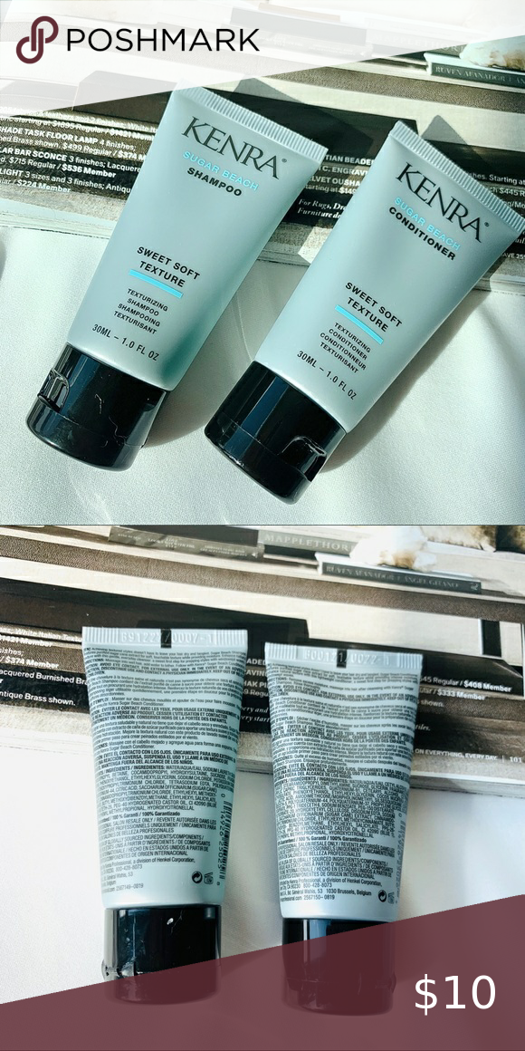 """✨2 for $15✨ Kenra Sugar Beach Hair Set This listing includes:   1x Kenra Sugar Beach shampoo 30ml 1x Kenra Sugar Beach Conditioner 30ml  All 100% new!  This item is part of the """"2 for $15"""" category. Just add two items labeled """"2 for $15"""", send me an offer and I will accept! Happy Poshing❤️ Sephora Makeup"""