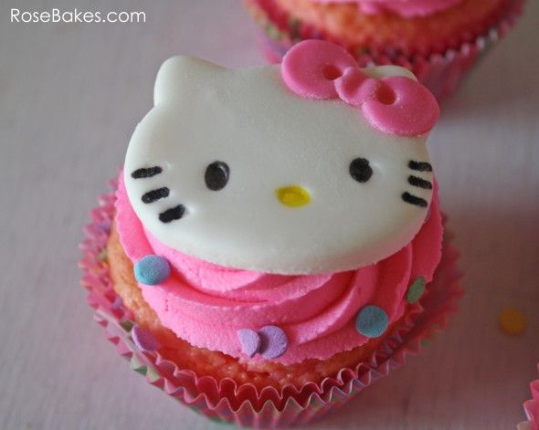 How to Make Hello Kitty Cupcakes Cupcake toppers, Stamps ...