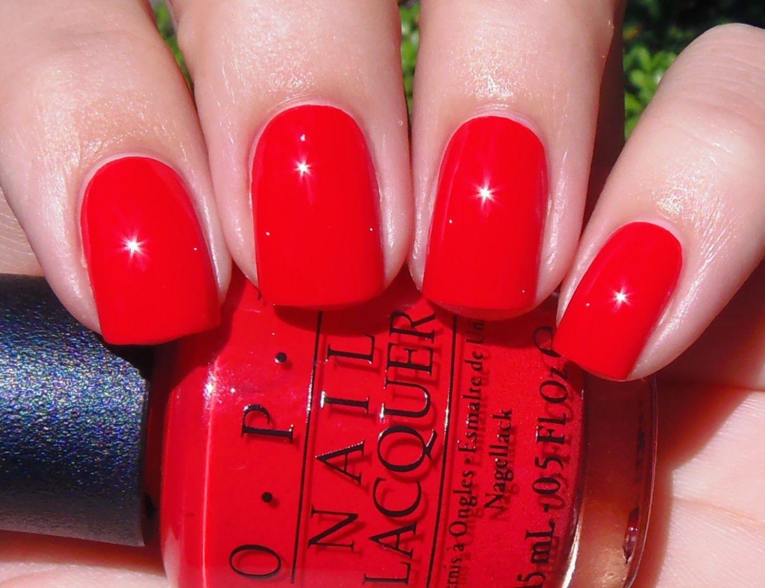 sparkly vernis opi coca-cola red