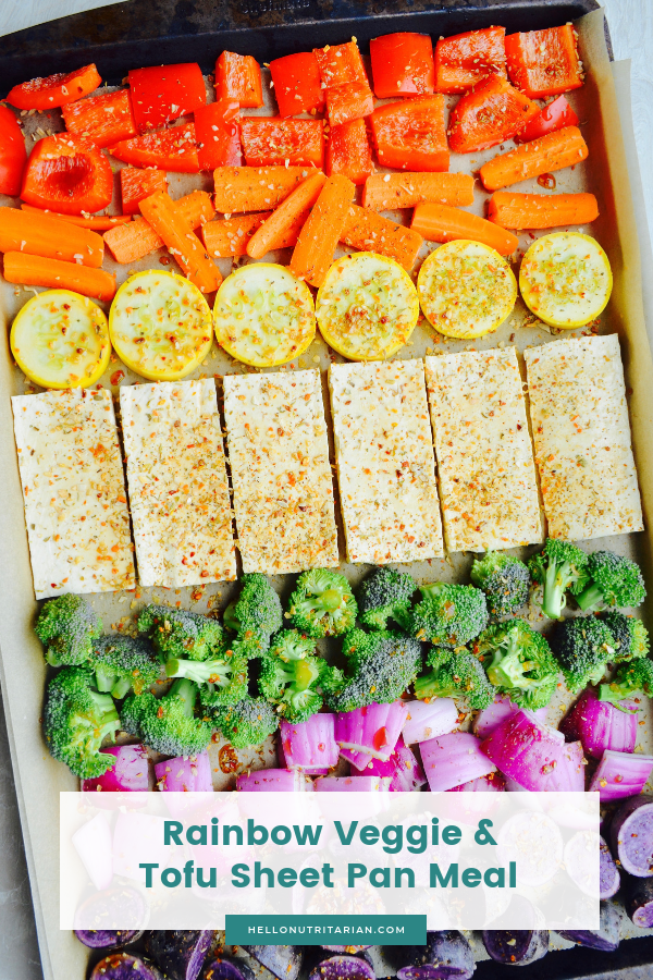 No Oil Tofu Veggies Sheet Pan Meal