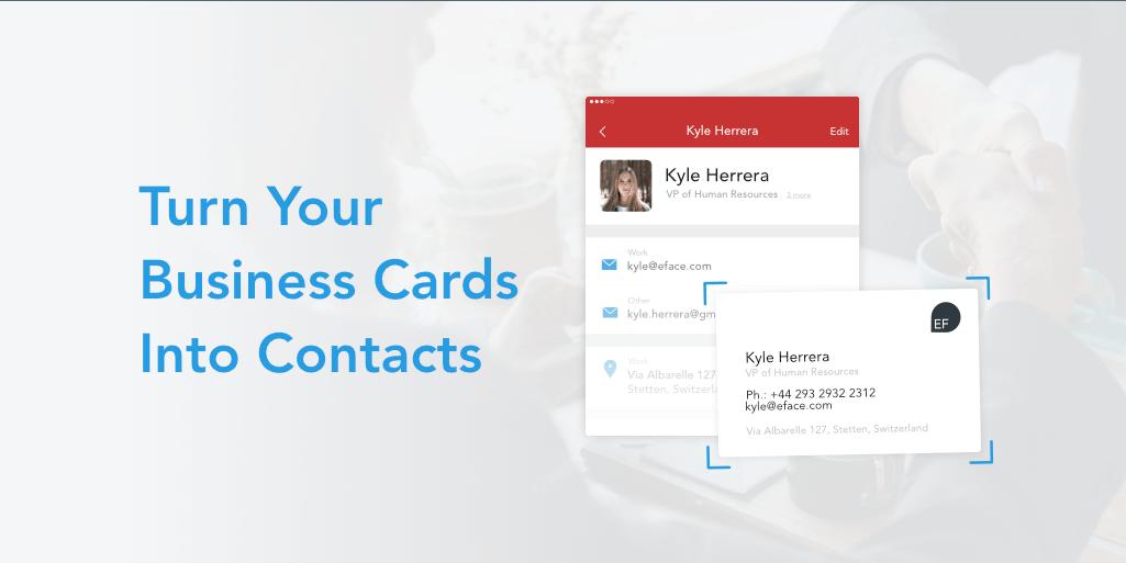 Scannen Sie Visitenkarten In Kontakte Android Auch