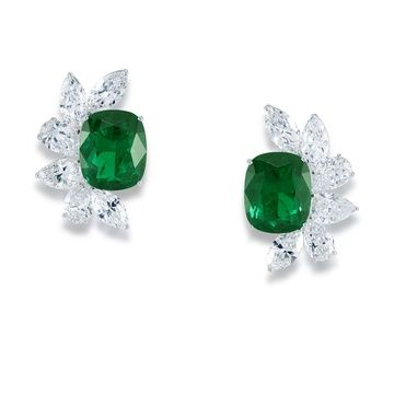 4adfb9f7d Graff diamonds and emerald earrings pincushion | Earrings | Jewelry ...