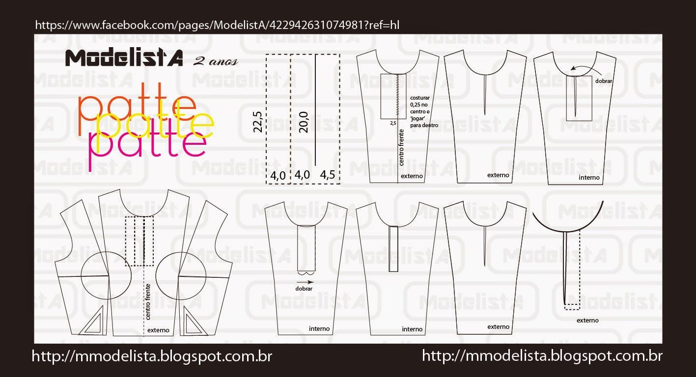 ModelistA: PATTE DE CAMISA POLO | sewing pattern | Pinterest ...