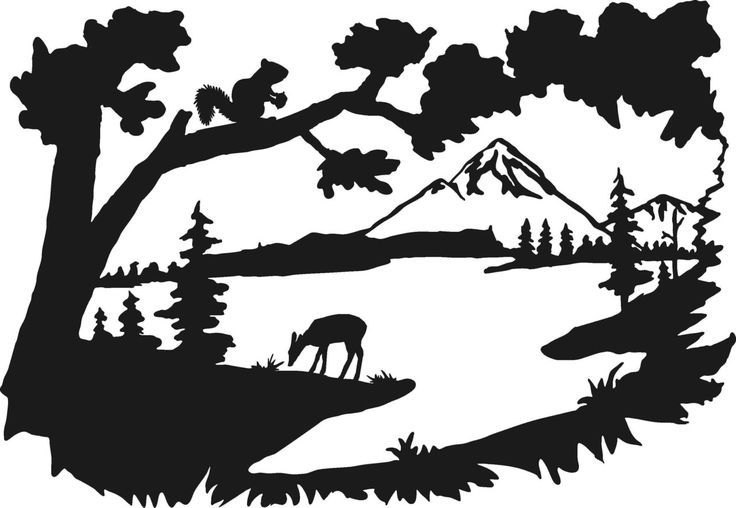Clip Arts Related To Deer Hunting Scene Clipart Silhouette Art Silhouette Clip Art Silhouette Painting