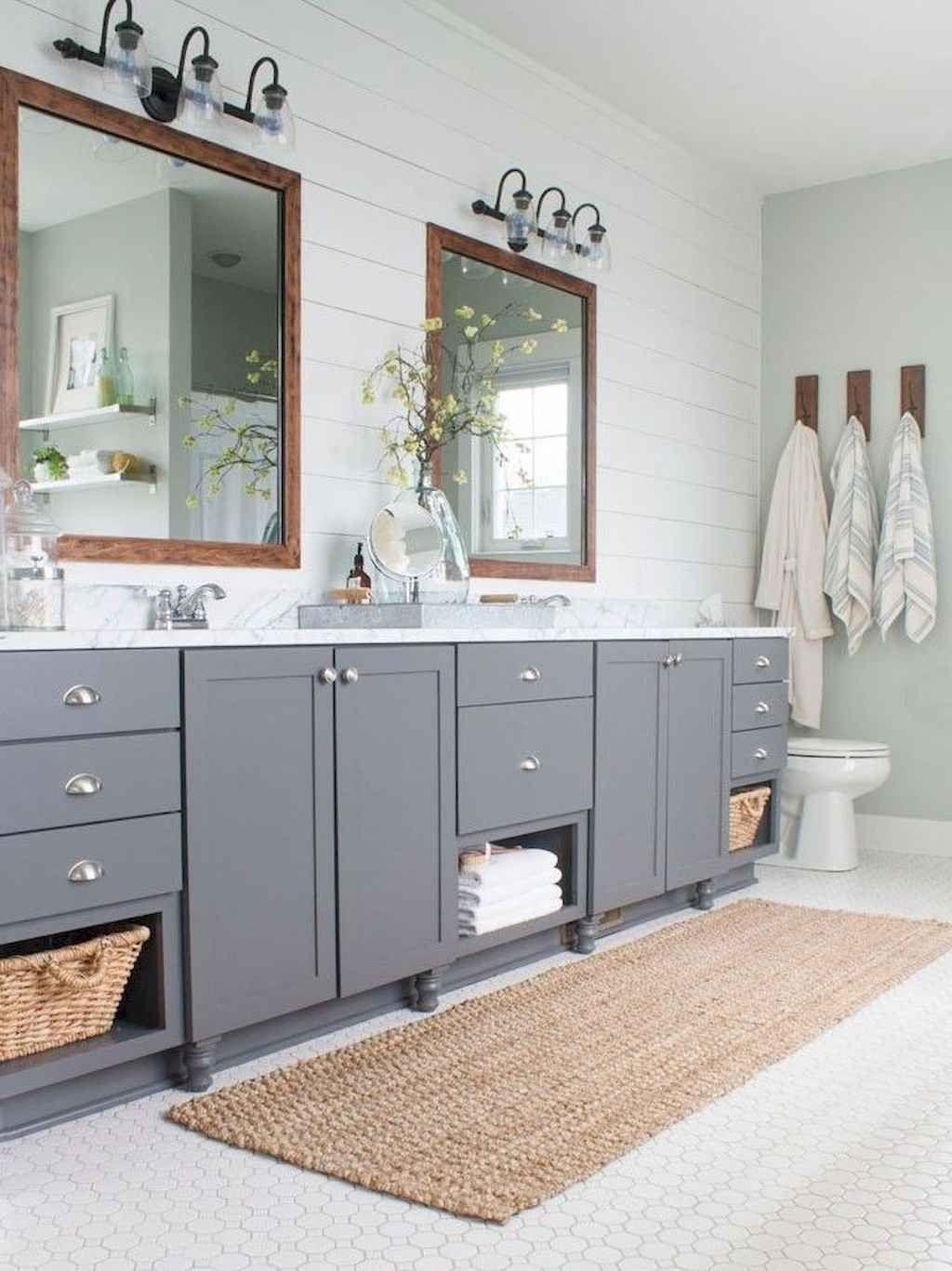 125 Stunning Farmhouse Bathroom Vanity Decor Ideas Bathroom Vanity Decor Bathroom Vanity Farmhouse Bathroom Vanity
