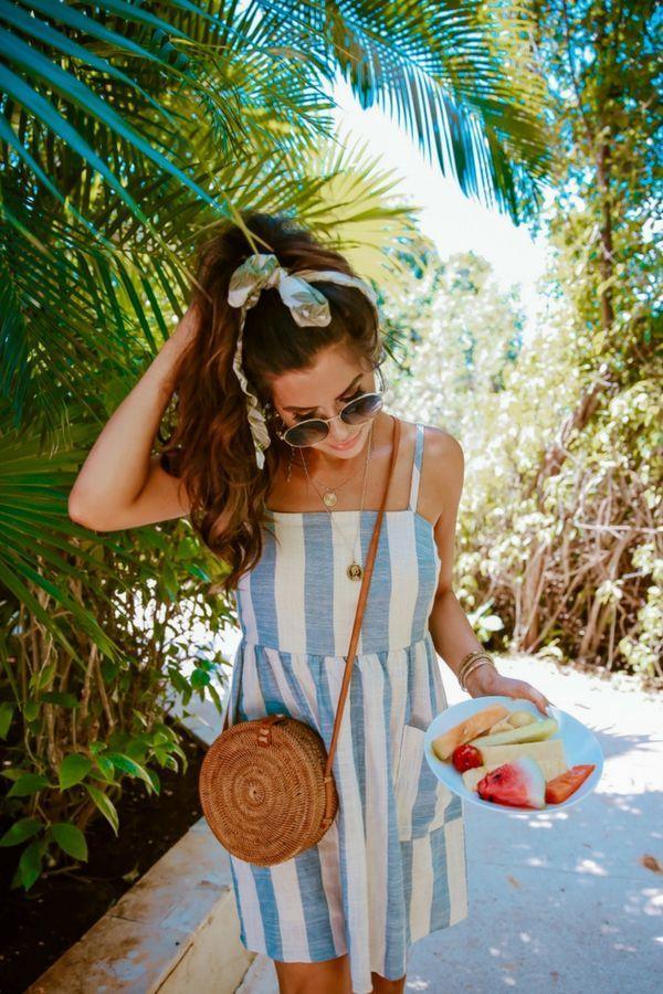 Poolside Summer Dress & Fresh Fruit