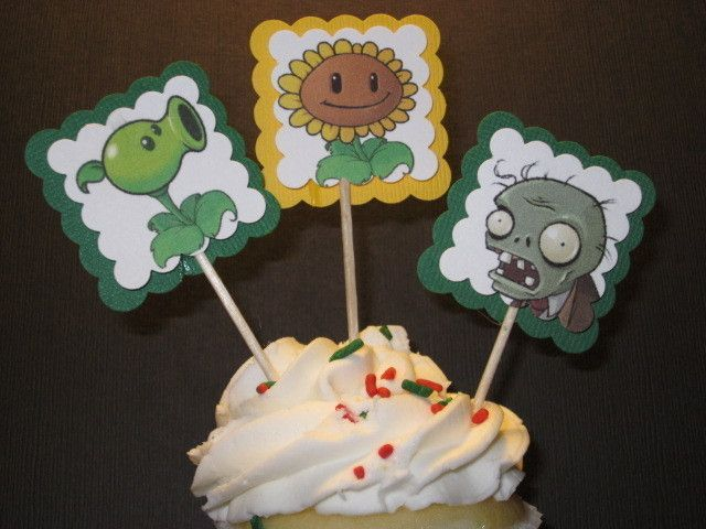 plants vs zombie party Plants vs Zombies Birthday Party cupcake