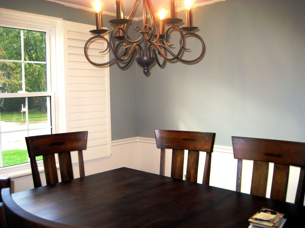 Paint Ideas For Dining Room With Chair Rail Part - 15: Painting Dining Room With Chair Rail : Like The White Lower Half.