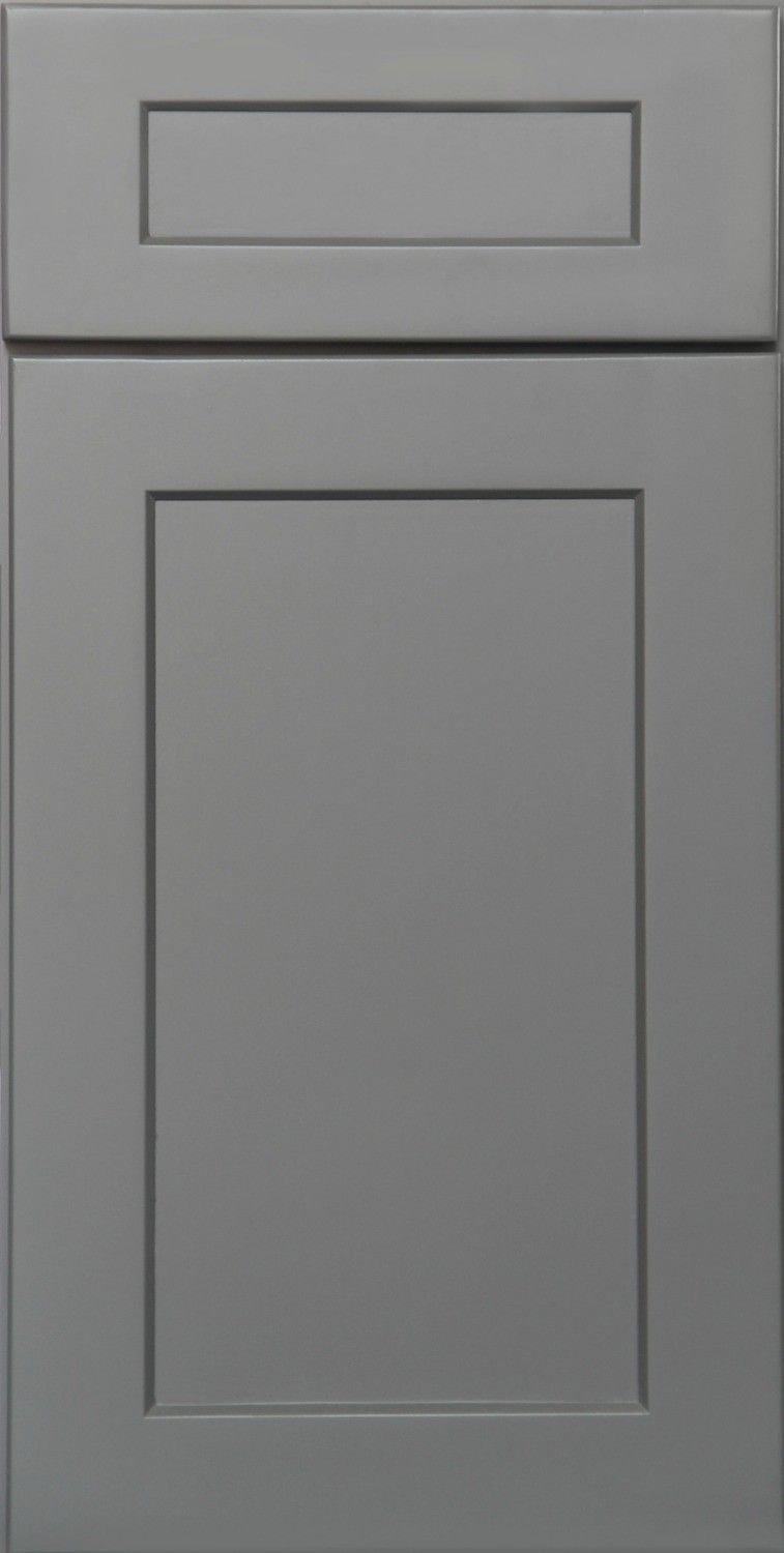 kitchen gray lower cabinets white upper (With images) | Assembled kitchen cabinets, Kitchen ...