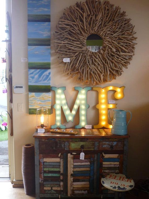 "24"" LARGE Vintage Style Wood Letter Marquee...........   A B C D E F G H I J K L M N O P Q R S T U V W X Y Z on Etsy, $79.90"