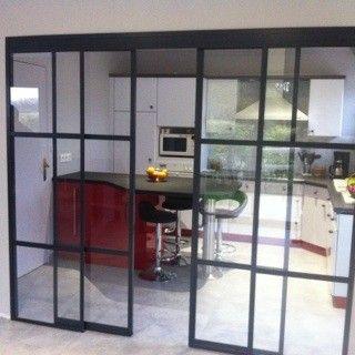 verri re double porte coulissante id es pour la maison pinterest double porte. Black Bedroom Furniture Sets. Home Design Ideas