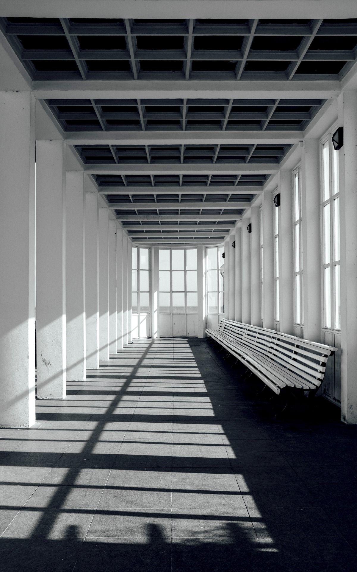 Spatial rhythm - #and #architecture #bäderarchitektur #baltic #binz #black #contemplation #meolog #on #original #ostsee #photographers #rhythm #rügen #sea #source: #tumblr #white
