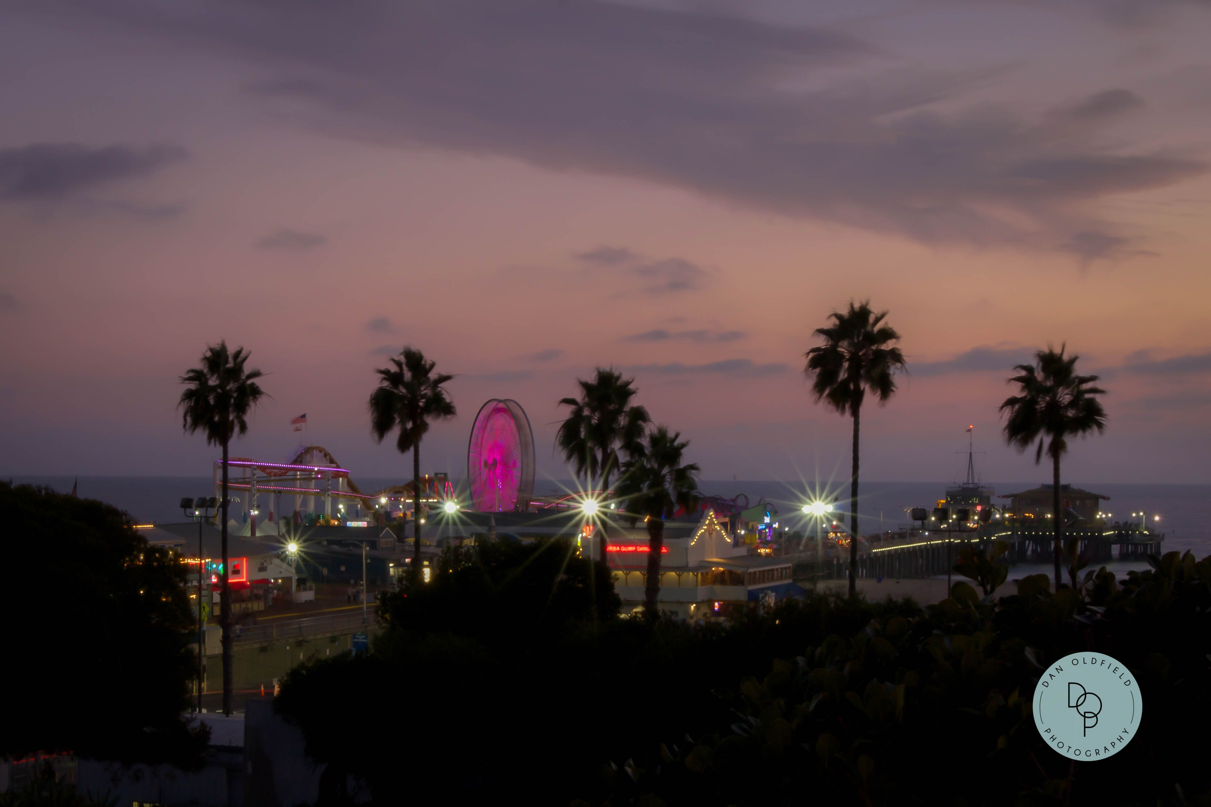 Santa Monica Pier at night is a beautiful site to see! #danoldfieldphotography #santamonica