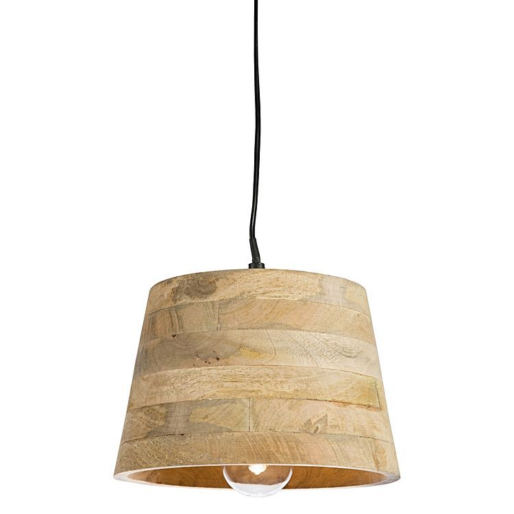 For a sense of rural style in your home opt for the warm timbers of the Jetmore Mango Wood Pendant Light from Casa Uno.
